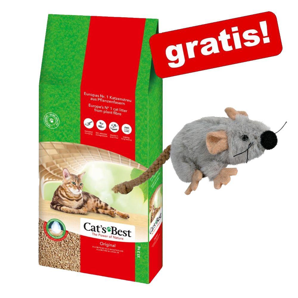40 l Cat's Best Original Katzenstreu + Plüschmaus mit Katzenminze gratis! - 40 l (ca. 17,2 kg)