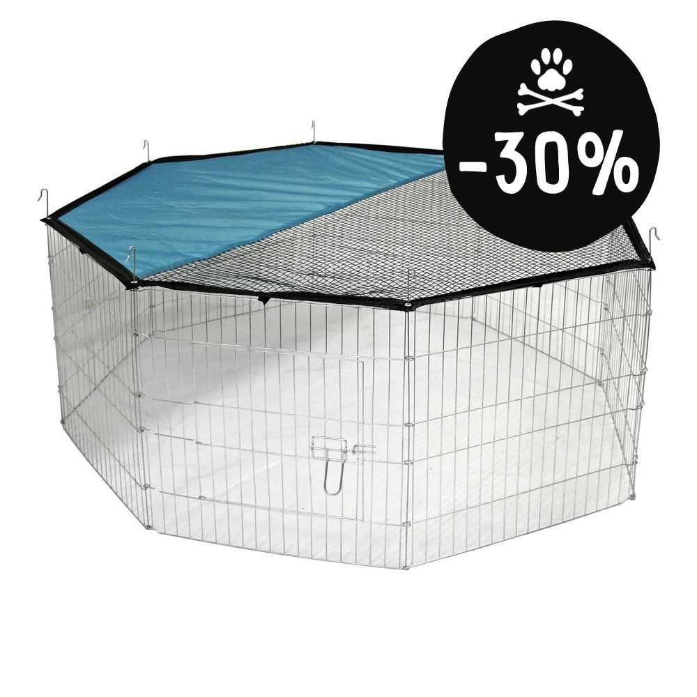 Image of Kerbl Recinto ottagonale + telo per protezione solare - Coprisuolo in nylon