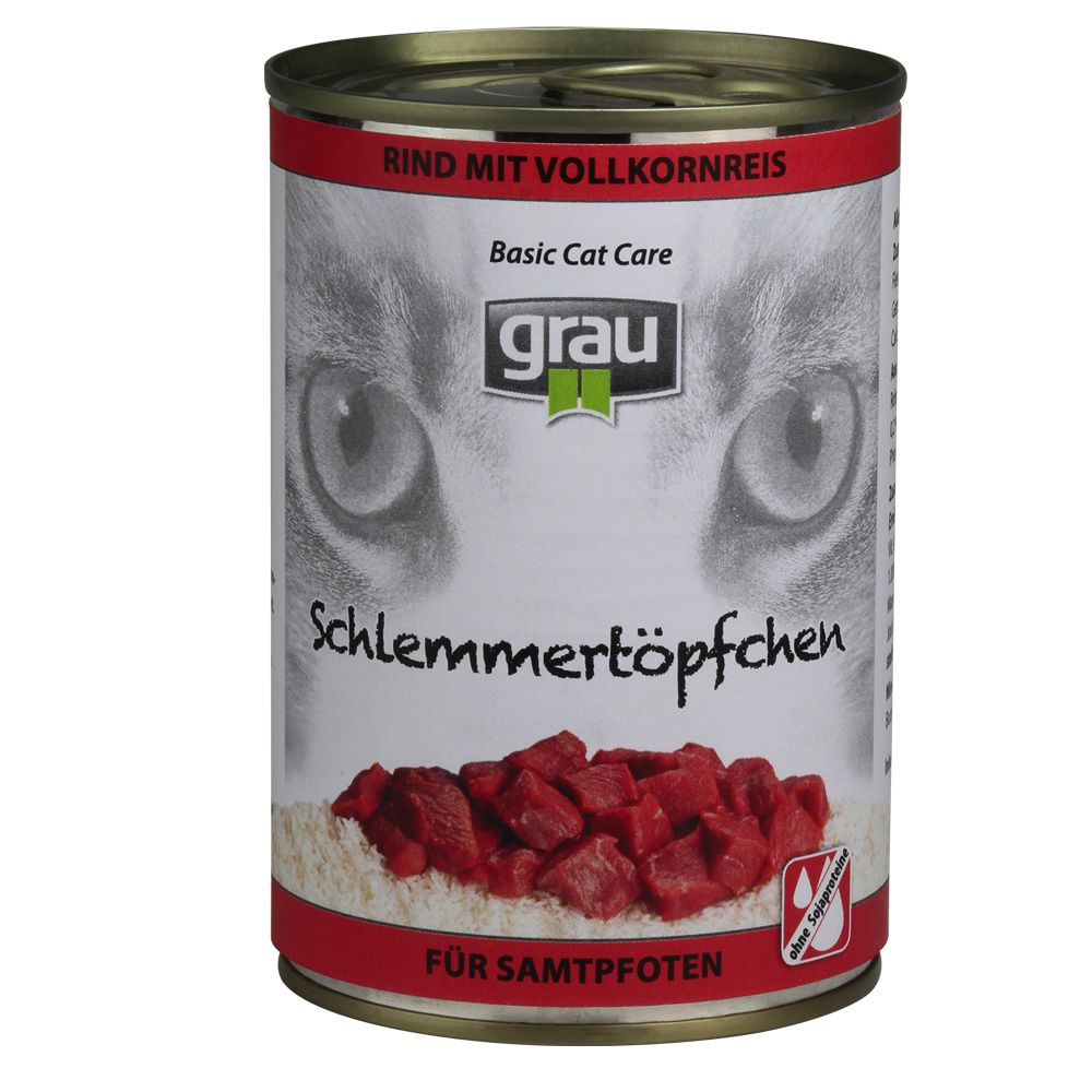 Grau Gourmet with Wholegrain Rice 6 x 400g - Beef with Wholegrain Rice