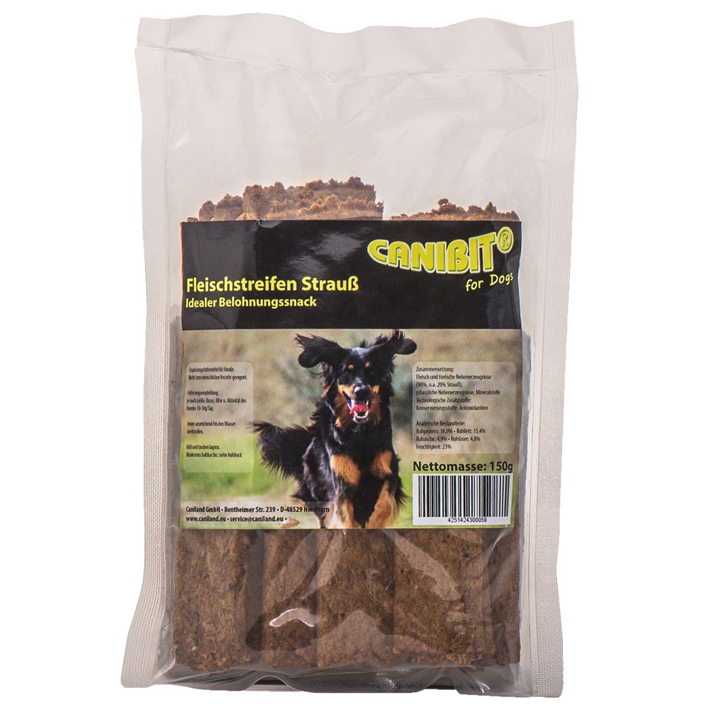 CANIBIT Ostrich Chew Snacks 150g