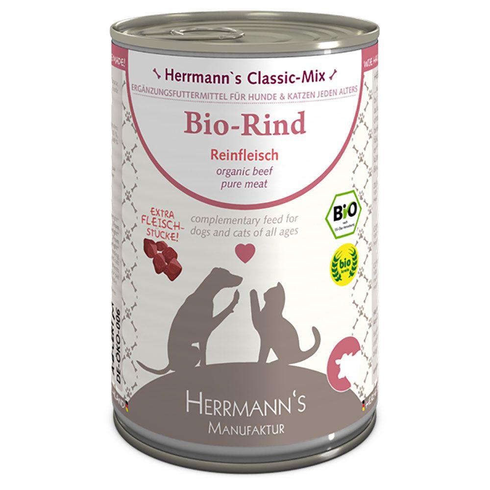 12x400g Organic Turkey Herrmann's Organic Meat Wet Dog Food