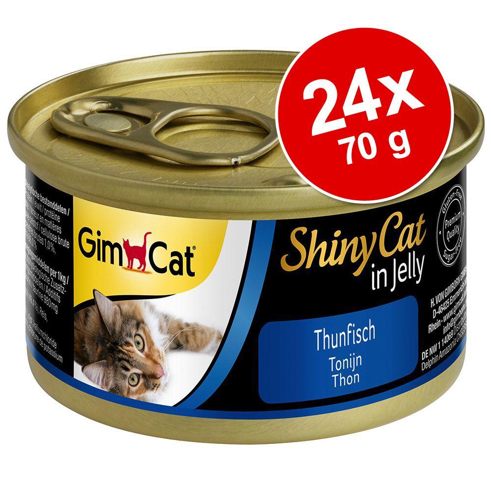 Ekonomipack: GimCat ShinyCat Jelly 24 x 70 g - Tonfisk & kyckling