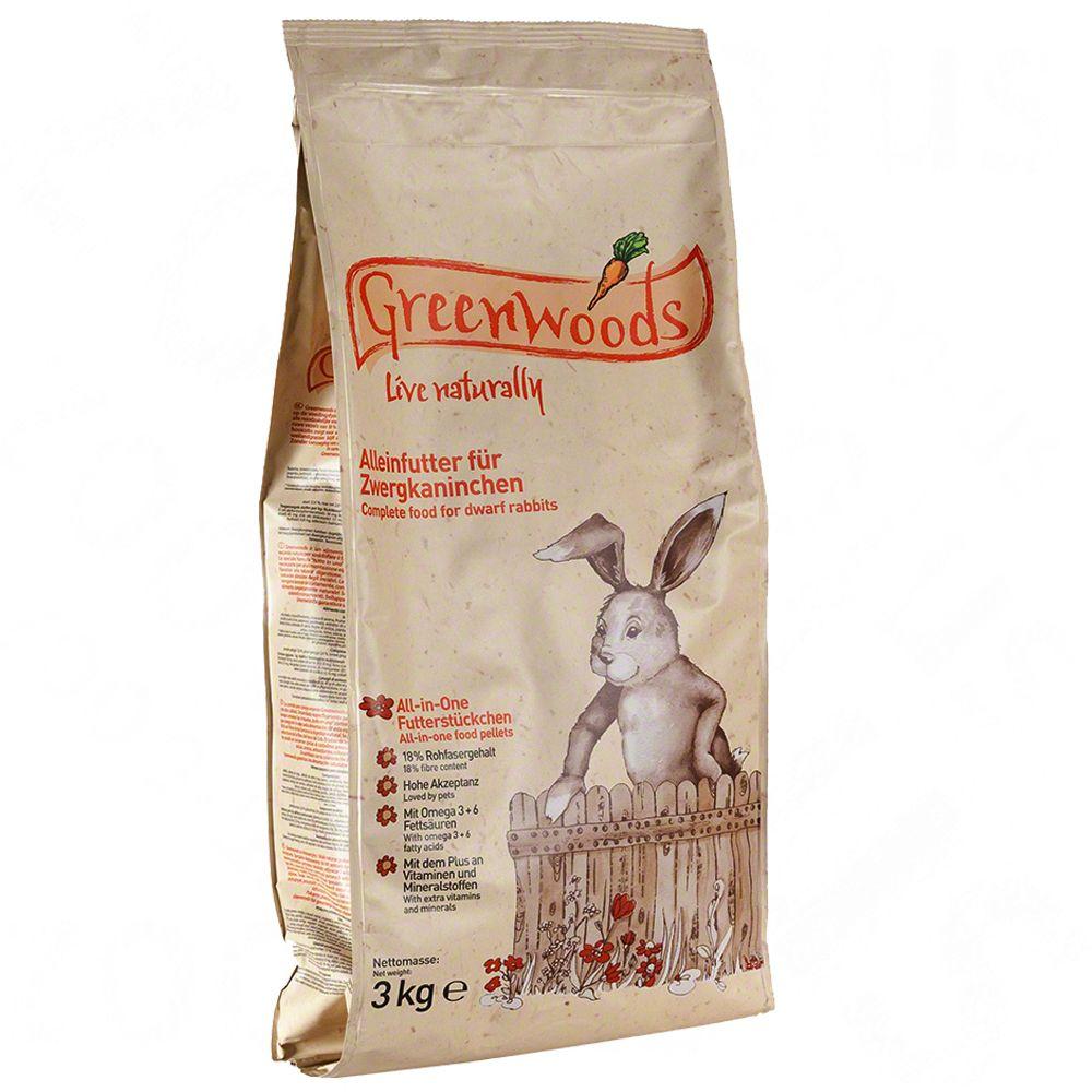 Greenwoods cibo per piccoli animali - 3 kg per porcellini d'India