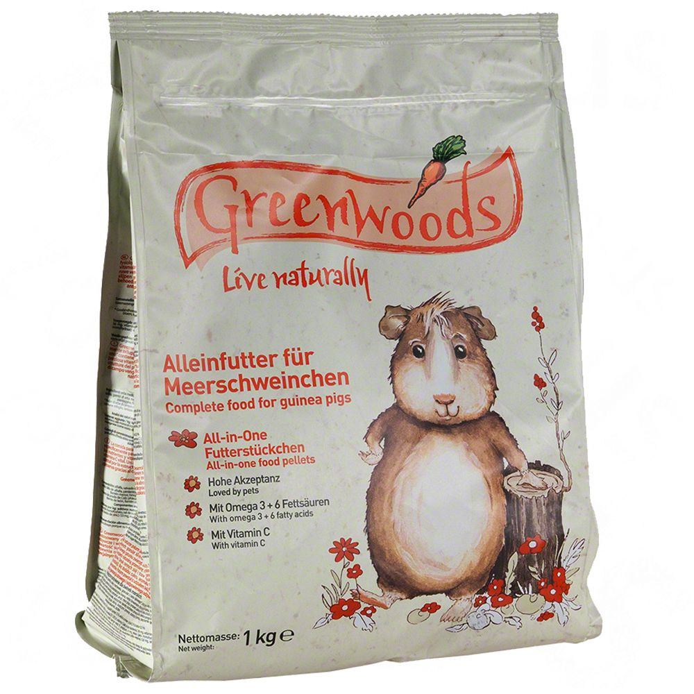 Greenwoods Guinea Pig Food - Economy Pack: 2 x 3kg