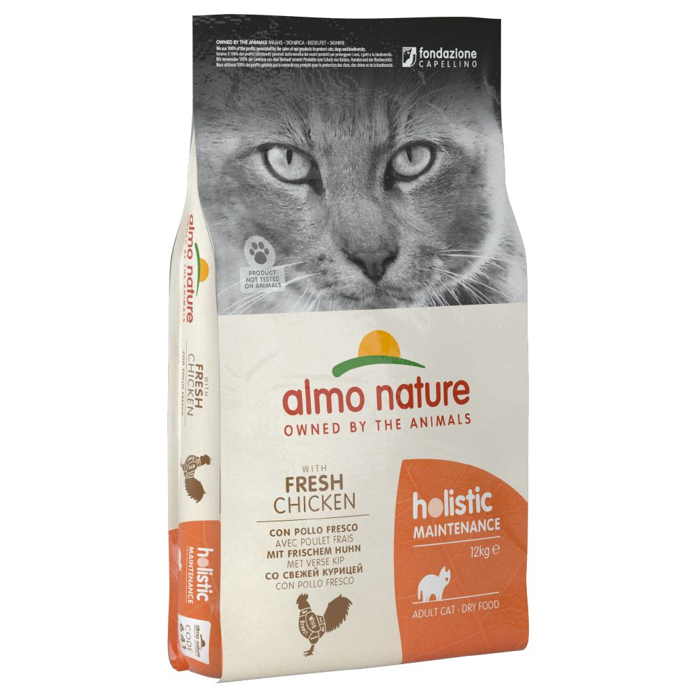 2x12kg White Fish & Rice Almo Nature Holistic Dry Cat Food