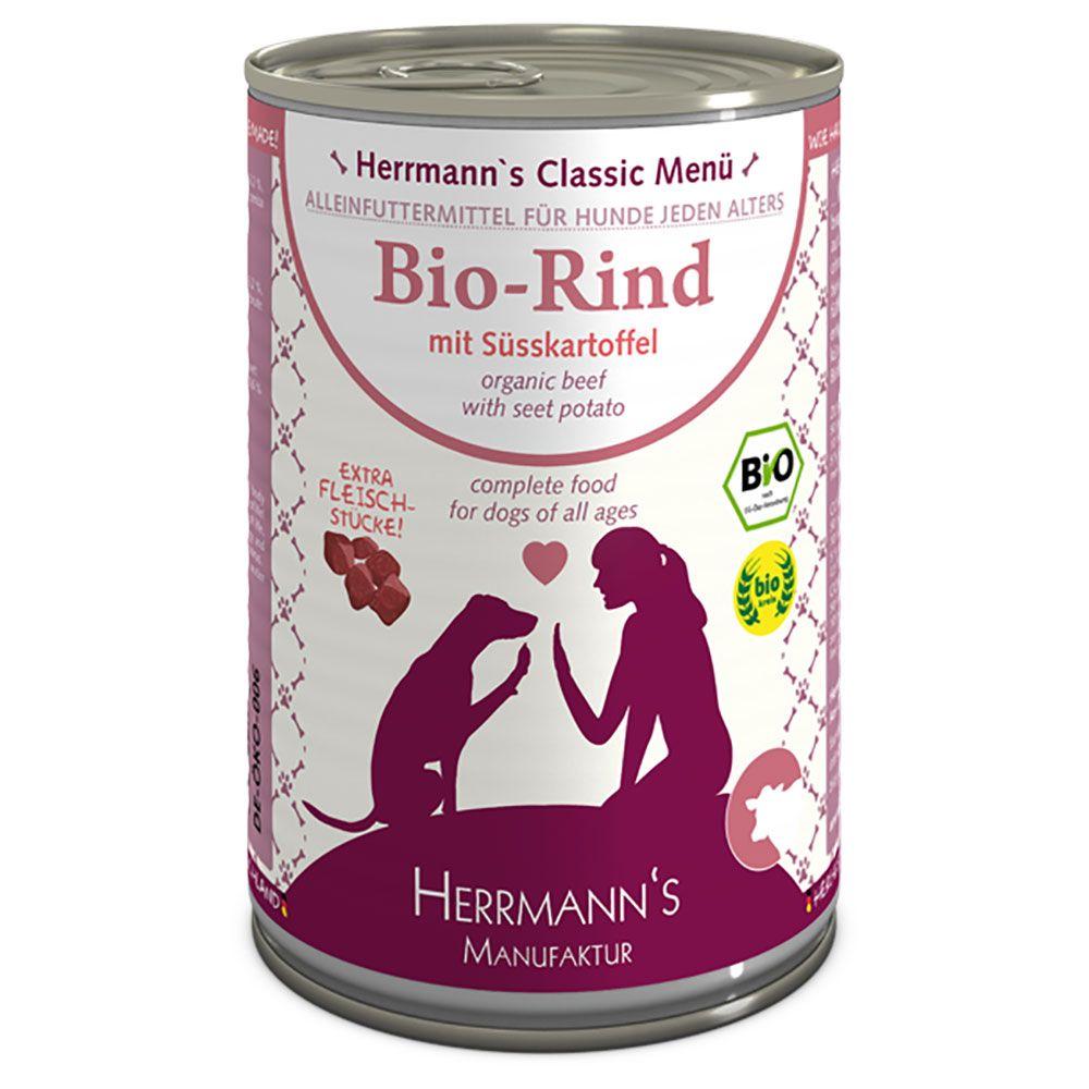 Image of Herrmann's Menù senza cereali 6 x 400 g - Tacchino bio con Frutta bio & Verdure bio