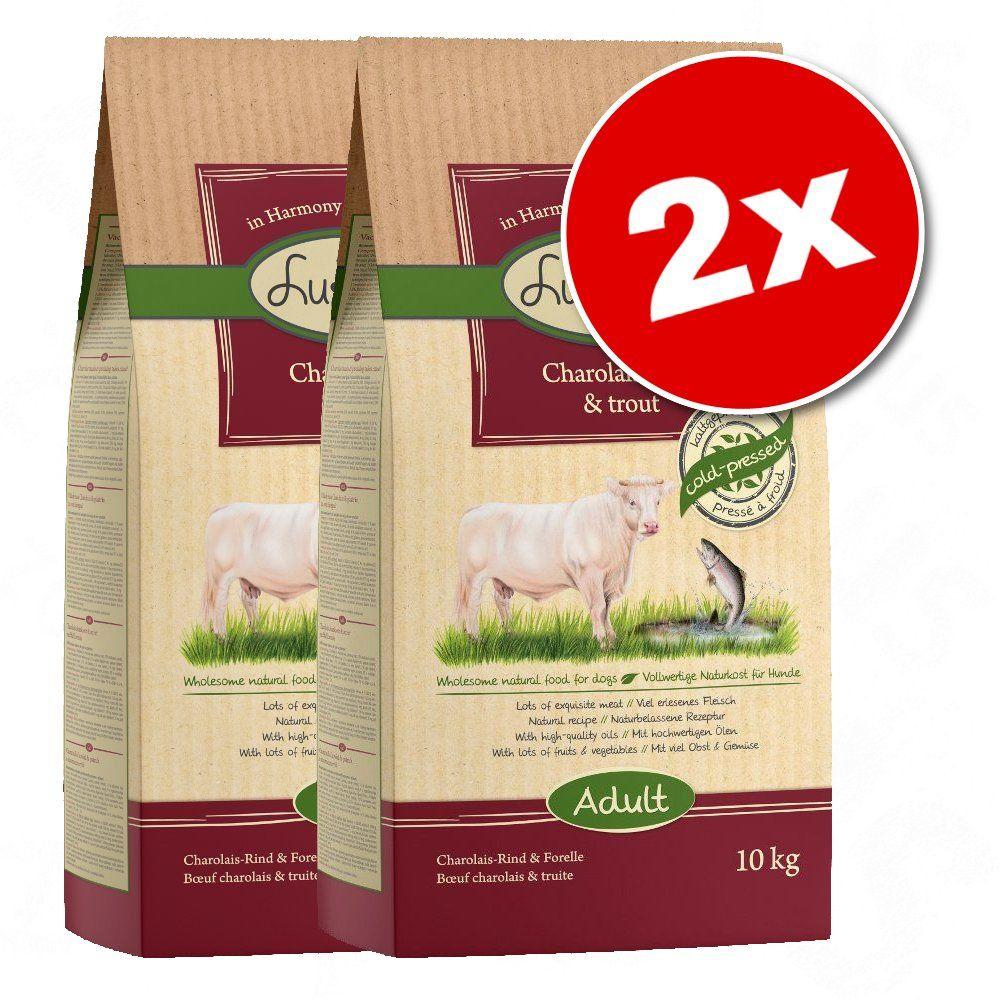 2x10kg bœuf Charolais, truite Lukullus - Croquettes pour chien