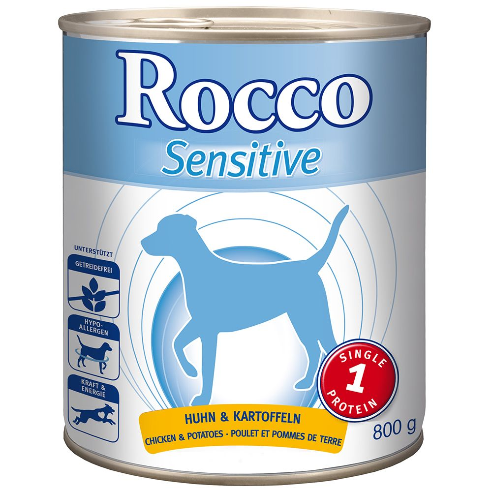 Rocco Sensitive 6 x 800g - Mixed Pack