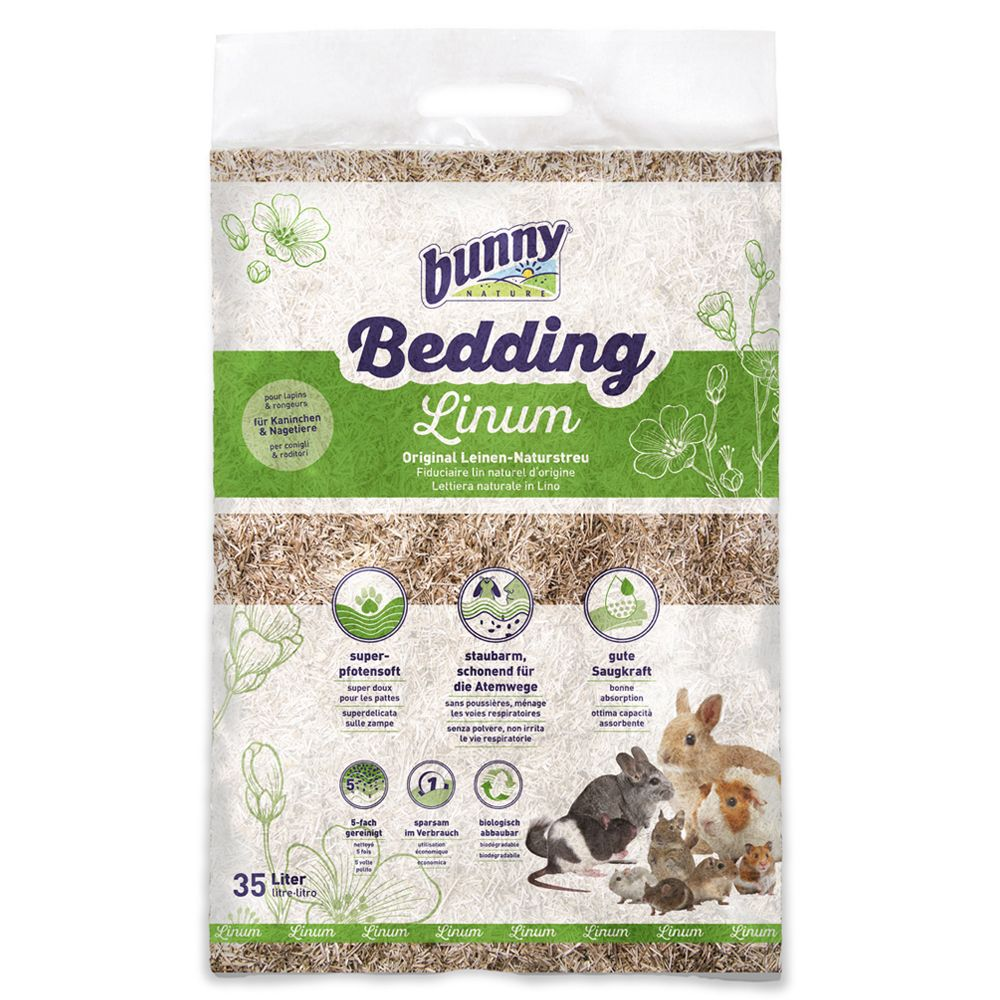 2x35l Bunny Bed O'Linum Natural Linen Bedding