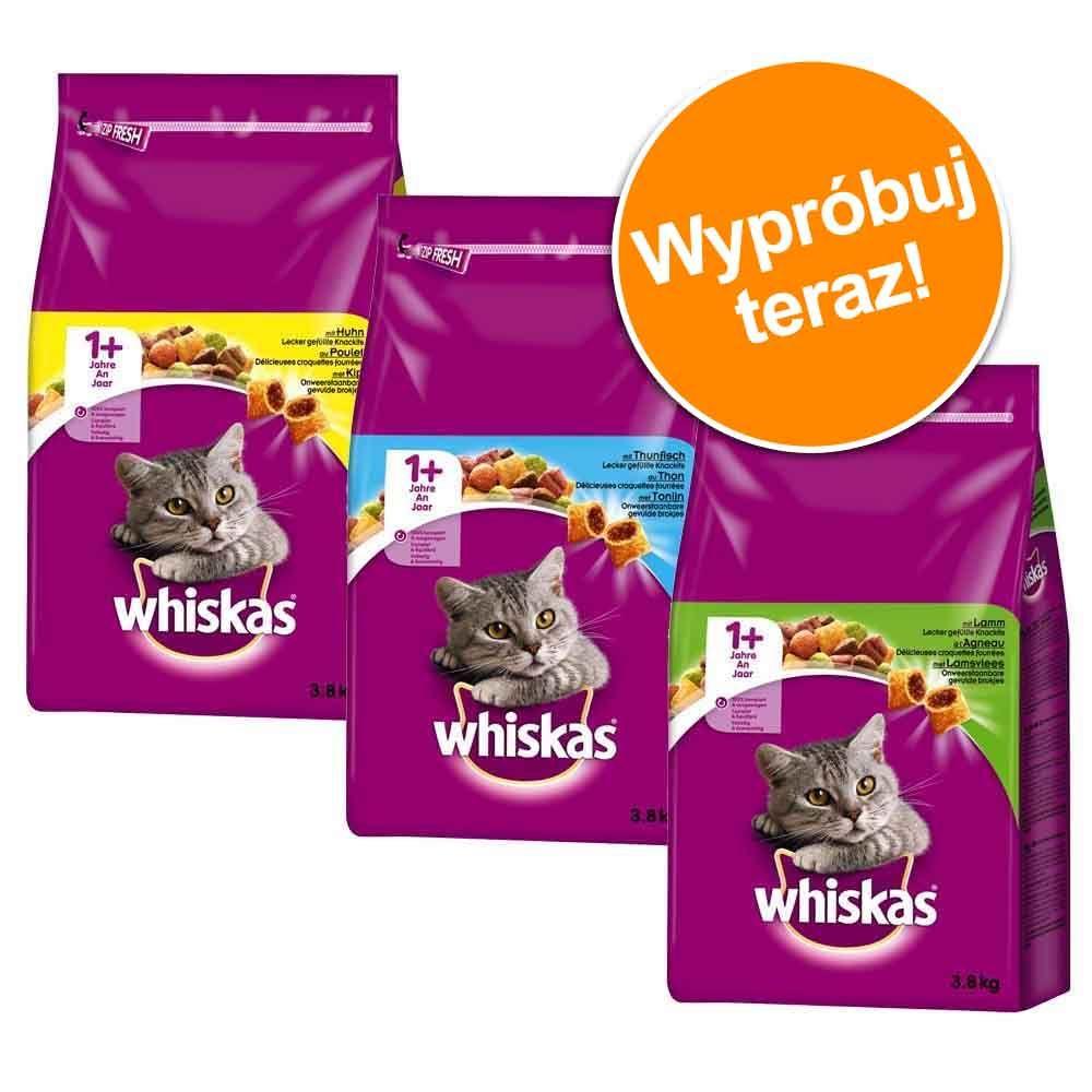 Pakiet mieszany Whiskas 1+, 3 smaki - 3 x 3,8 kg