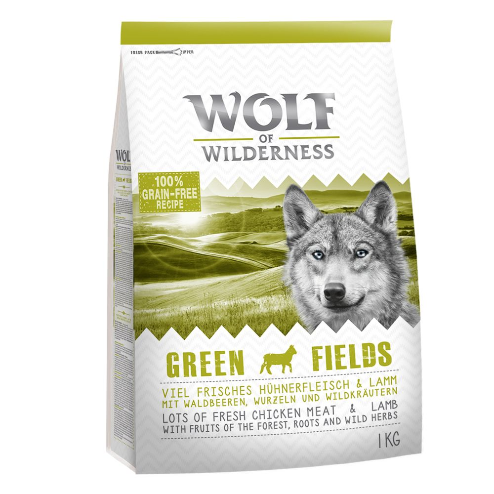 ALTERNATIVE: Wolf of Wilderness Adult ''''Green Fields'''' - Lamb - Economy Pack: 2 x 12kg