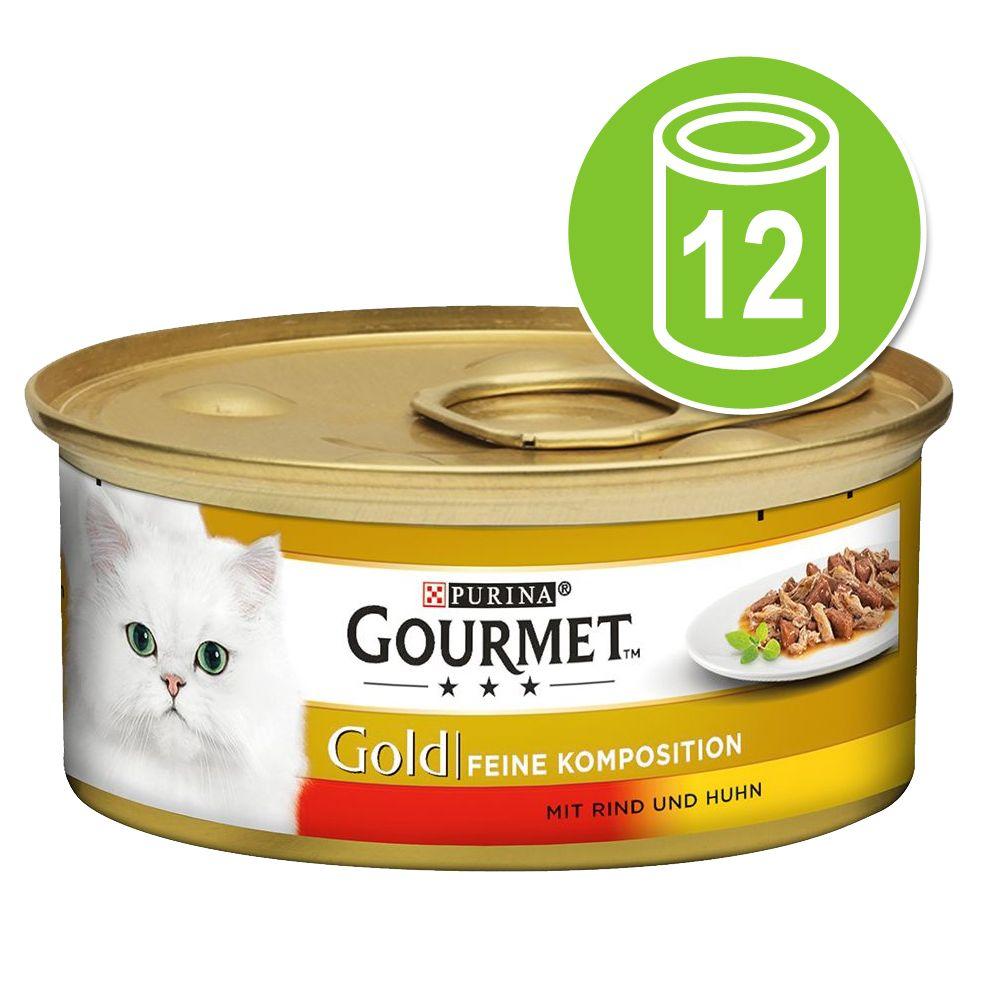 Gourmet Gold Fina kompositioner 12 x 85 g - Nötkött & kyckling