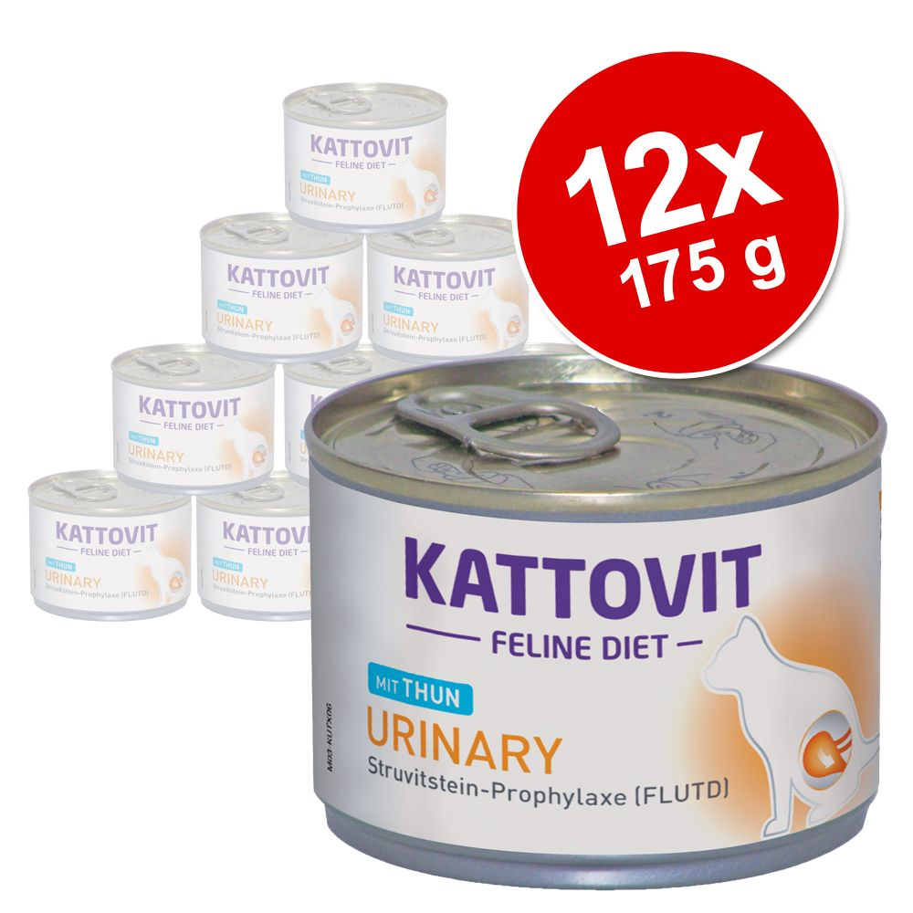 Ekonomipack: Kattovit Urinary (struvitsten) 12 x 175 g - Kalv
