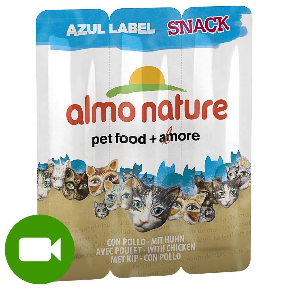 Almo Nature Snack Azul Label smakołyk dla kota - Kurczak, 3 x 5 g