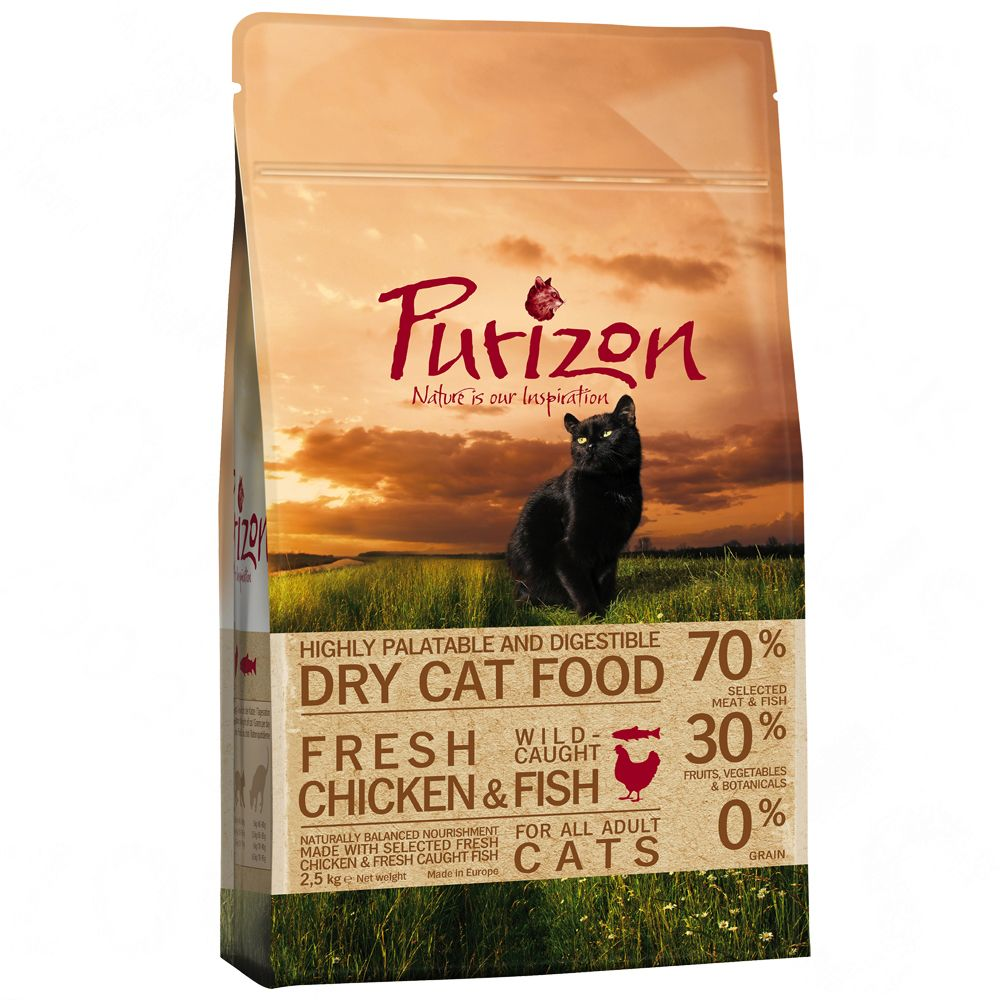 2kg Purizon Dry Cat Food + 500g Free