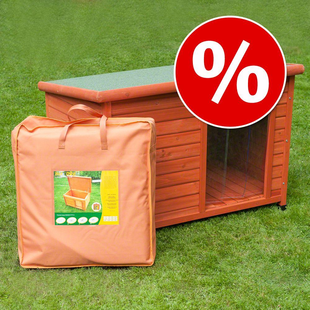 Foto Set Cuccia per cani Woody, porta e Isolamento - L115 x P76 x H80 cm zooplus Exclusive Set risparmio