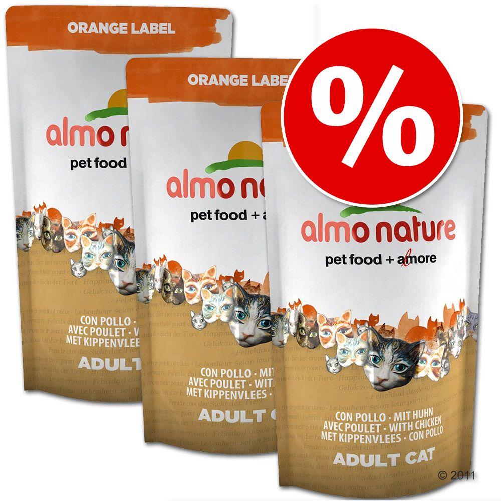 Sparpaket Almo Nature Orange Label Adult 3 x 75...