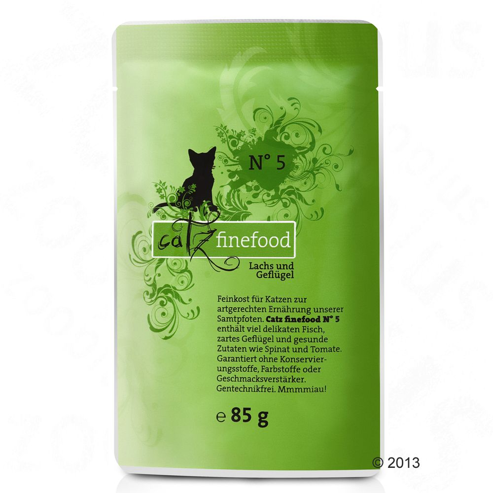 Catz Finefood w saszetkach, 8 x 85 g - Jagnięcina z królikiem