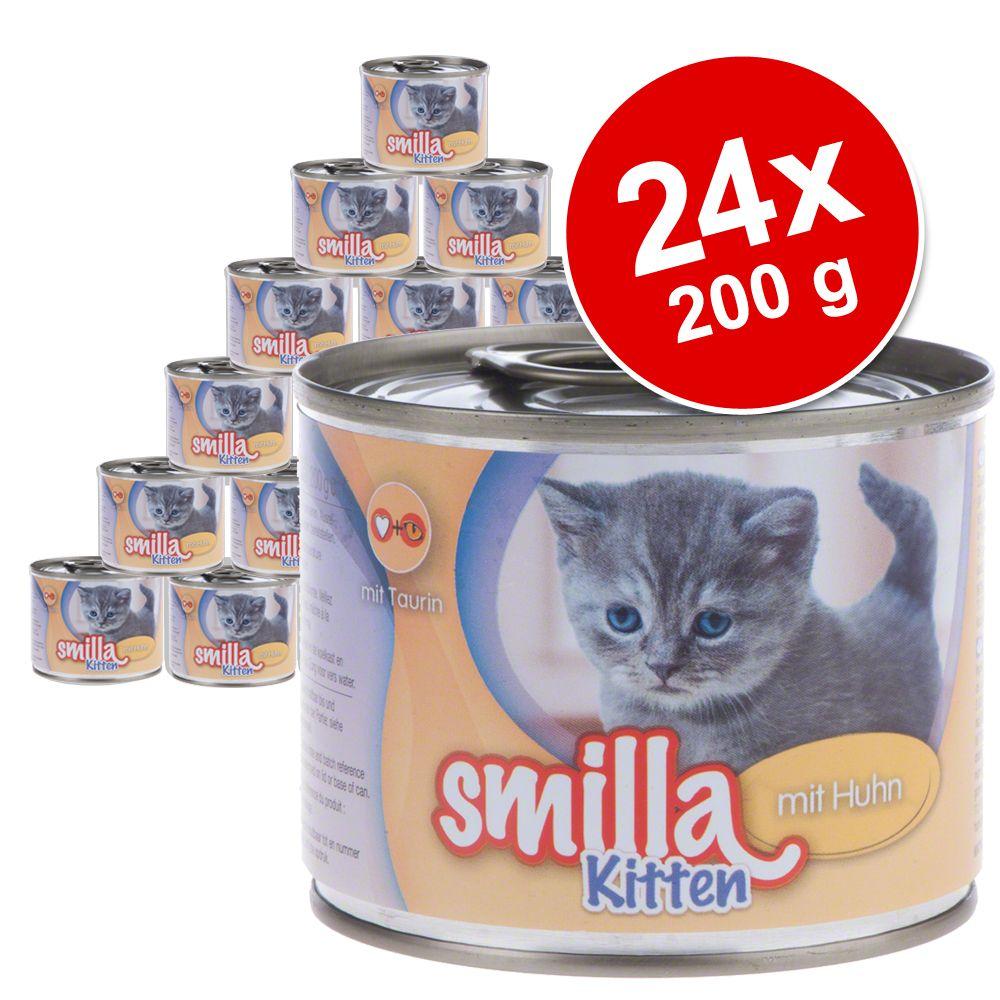 Lot Smilla Kitten 24 x 200 g pour chaton - lot mixte