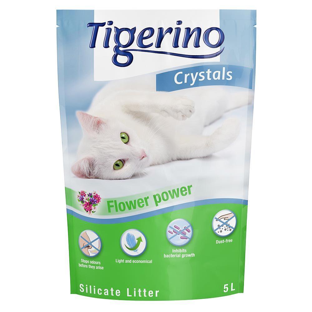 Tigerino Crystals Flower Power kattsand Ekonomipack: 6 x 5 l