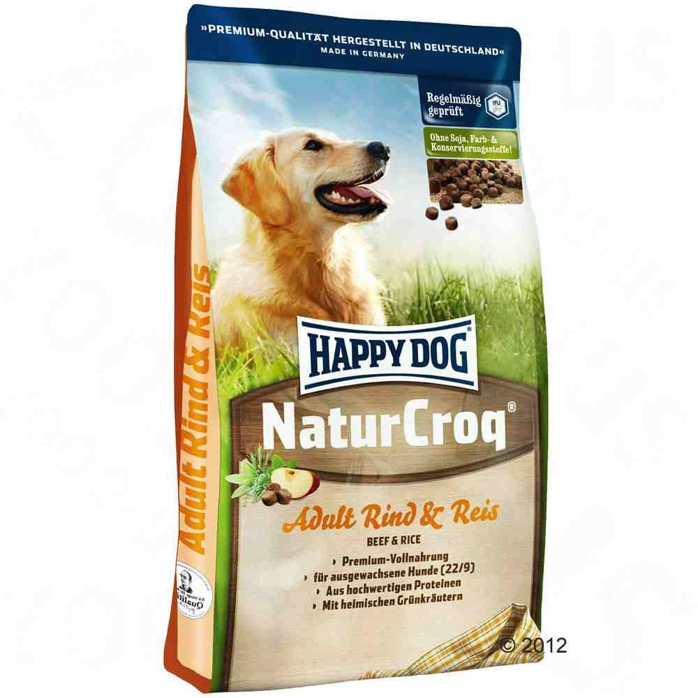 Foto Happy Dog NaturCroq Manzo & Riso - 15 kg Crocchette Happy Dog