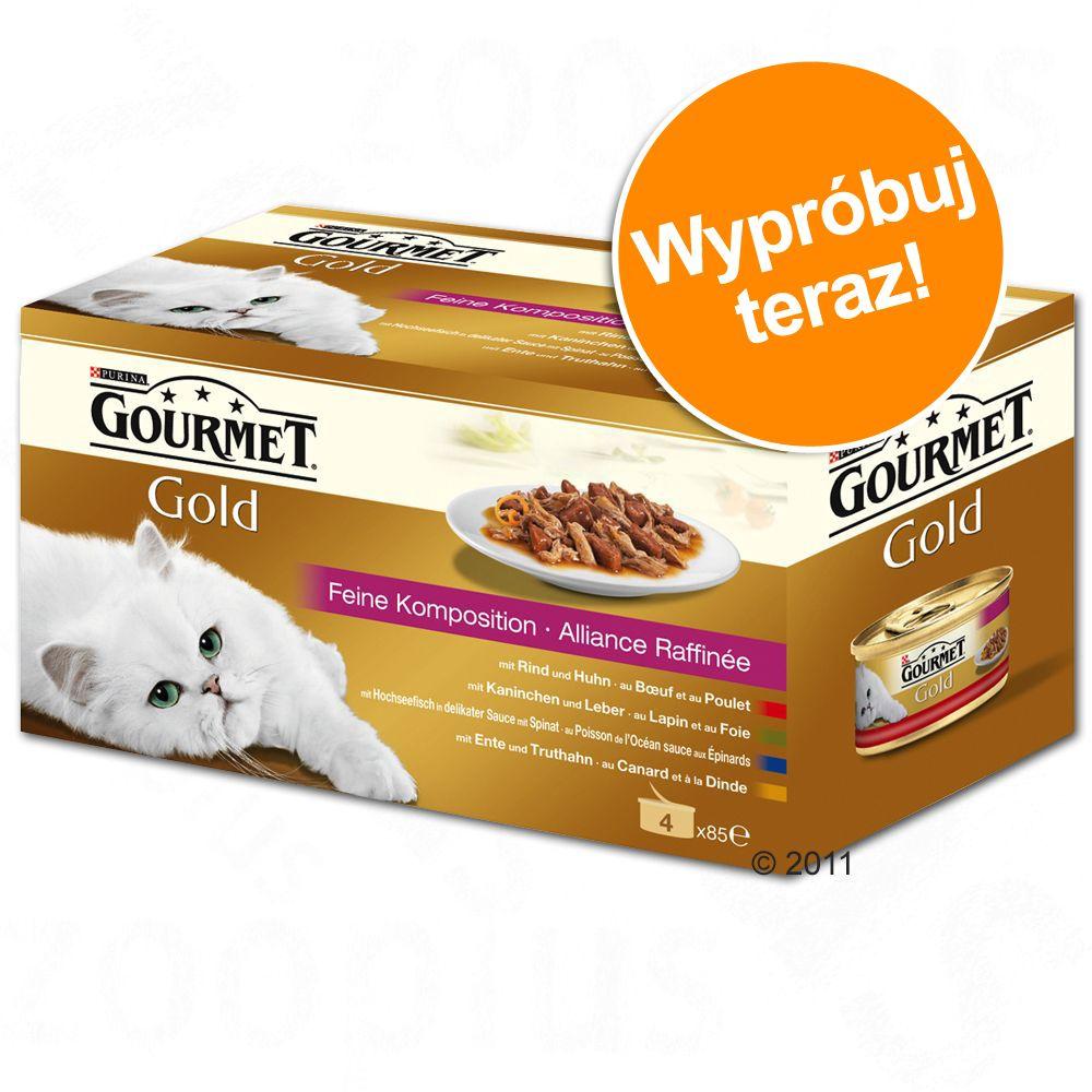 Pakiet próbny Gourmet Gold, 4 x 85 g - Mix kawałków w sosie