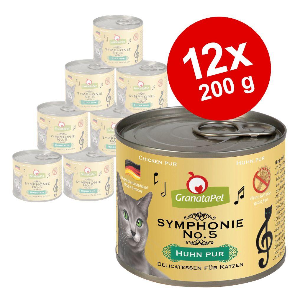 Ekonomipack: GranataPet Symphonie 12 x 200 g - Kalv & fågel