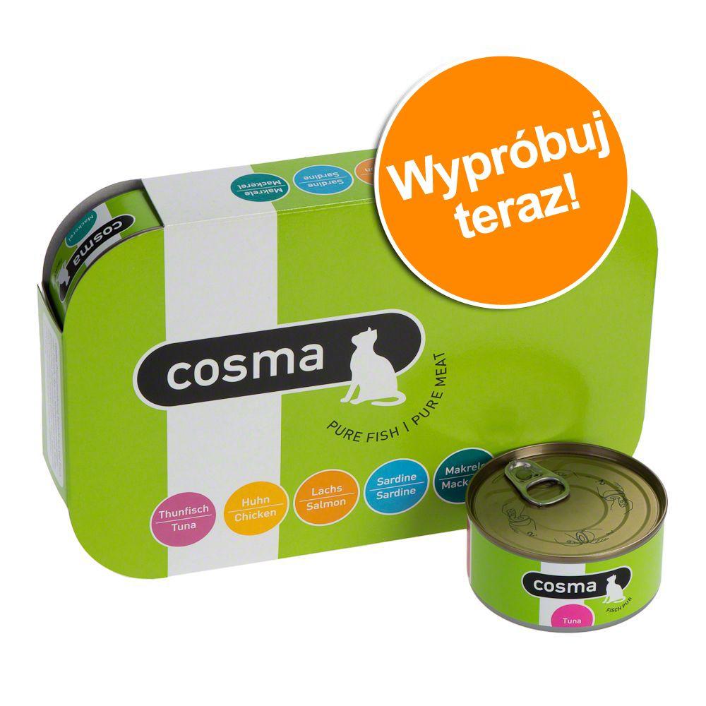 Mieszany pakiet próbny Cosma Original w galarecie - 6 x 400 g