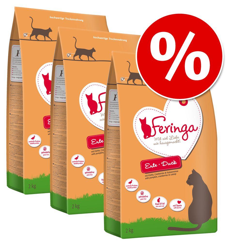 Ekonomipack: Feringa torrfoder 3 x 2 kg - Blandpack Adult