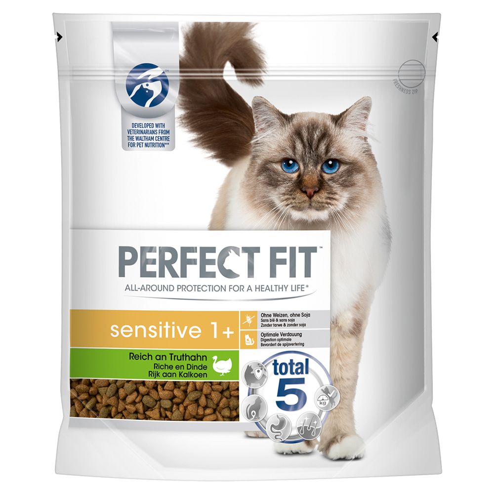 Perfect Fit Sensitive 1+ Rich in Turkey - Economy Pack: 3 x 750g