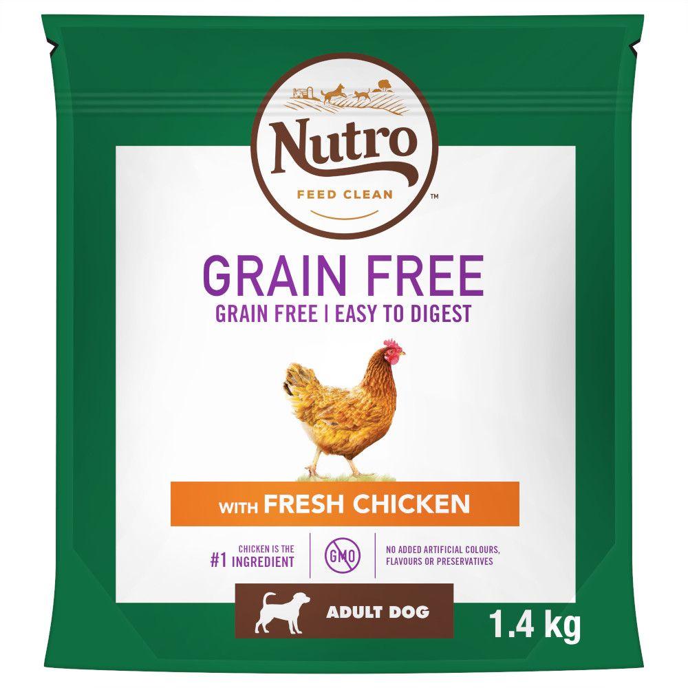 14.5kg Nutro Dog Grain-Free Adult Chicken Dry Dog Food