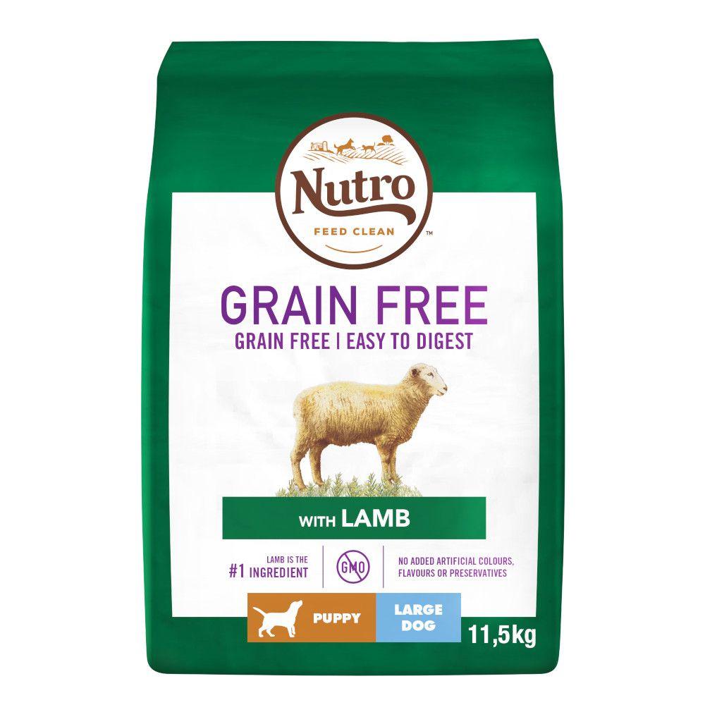 2x11.5kg Lamb Large Breed Junior Nutro Grain-Free Dry Dog Food