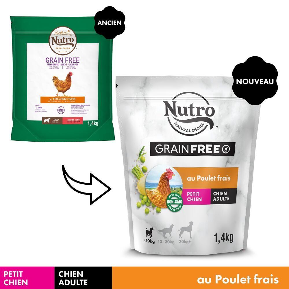 5x1,4kg Nutro Grain Free Adult Petite race poulet - Croquettes pour chien