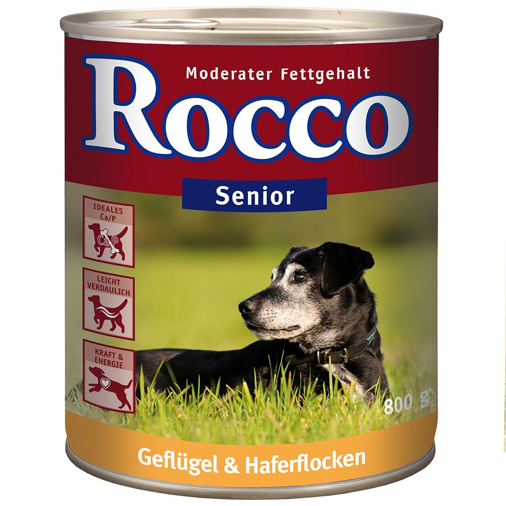 Rocco Senior Saver Pack 24 x 800g - Poultry & Oats