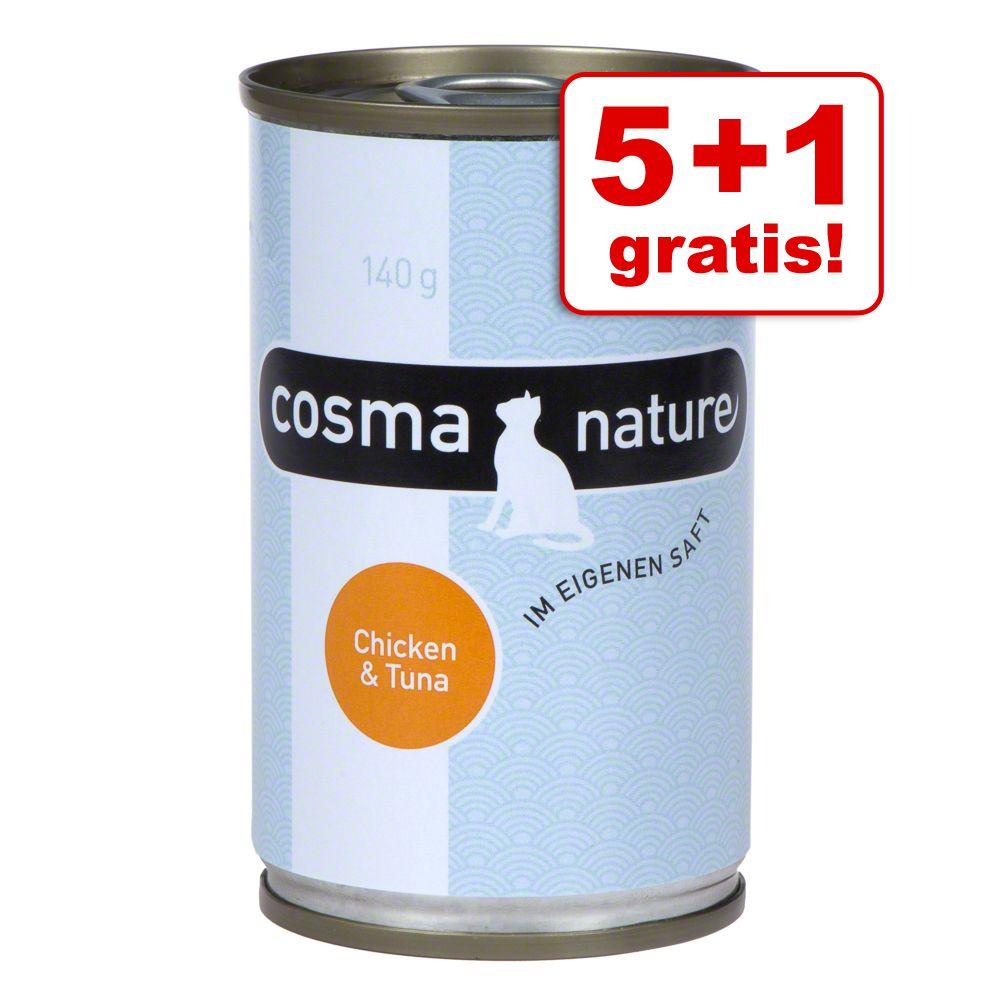 5 + 1 gratis! Cosma Nature 6 x 140 g - Hühnchen...
