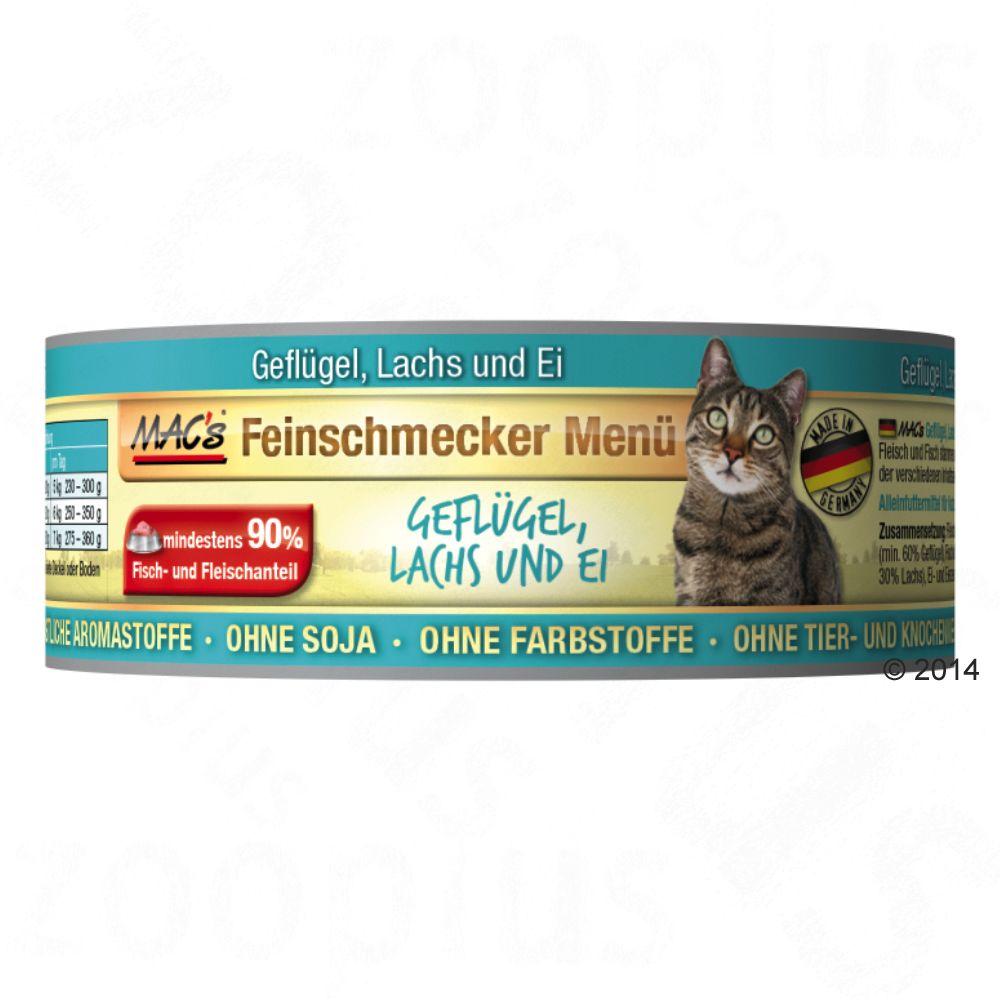 MAC´s Cat Feinschmecker karma dla kota, 6 x 100 g - Drób & łosoś