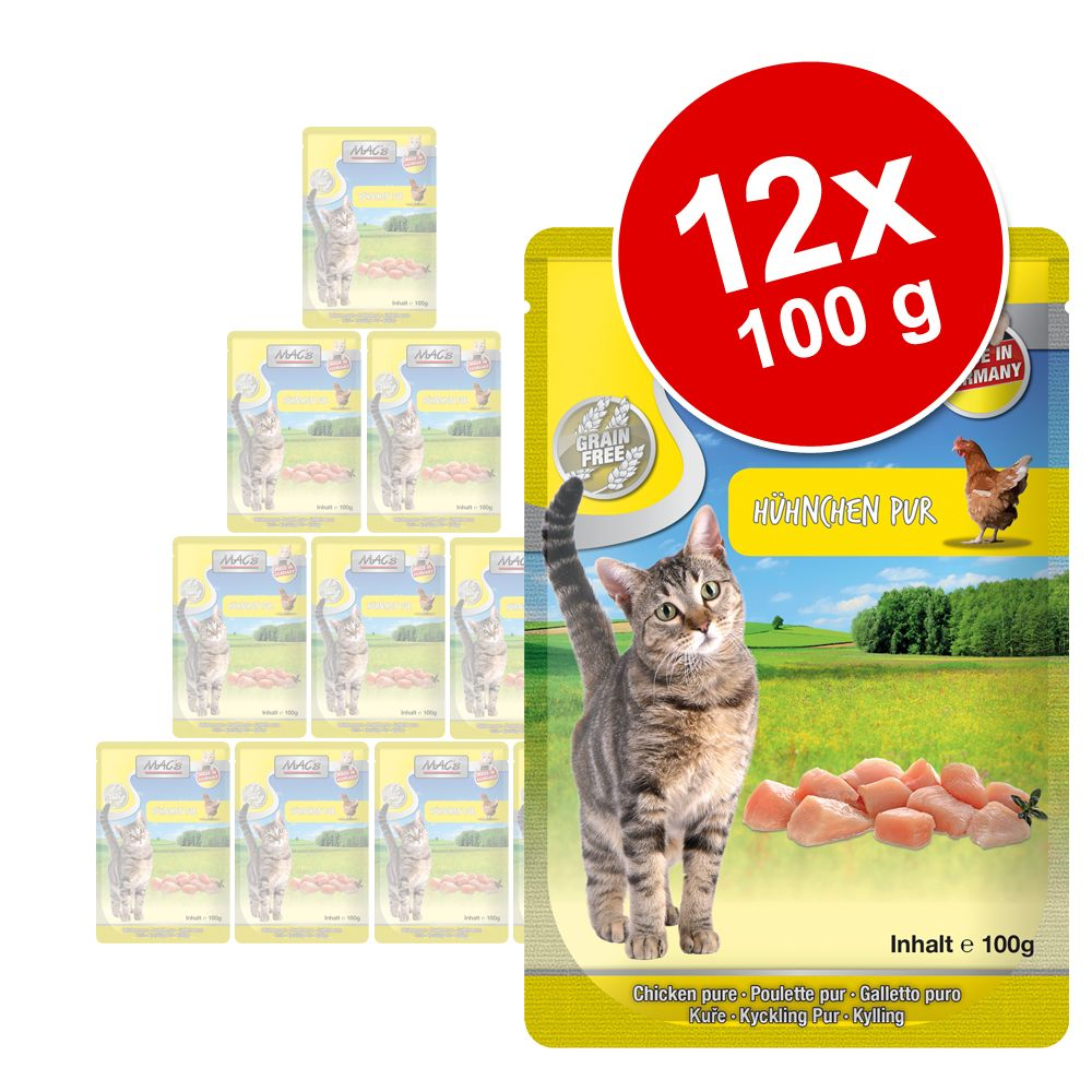 MAC's Cat portionspåse 12 x 100 g - Lax & fågelkött