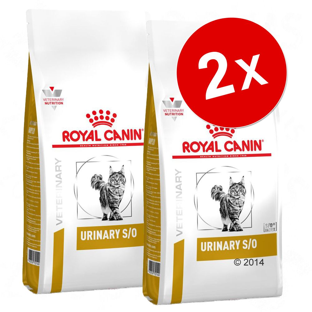 Lots croquettes Royal Canin Veterinary Diet pour chat - Urinary S/O LP 34 (2 x 9 kg)