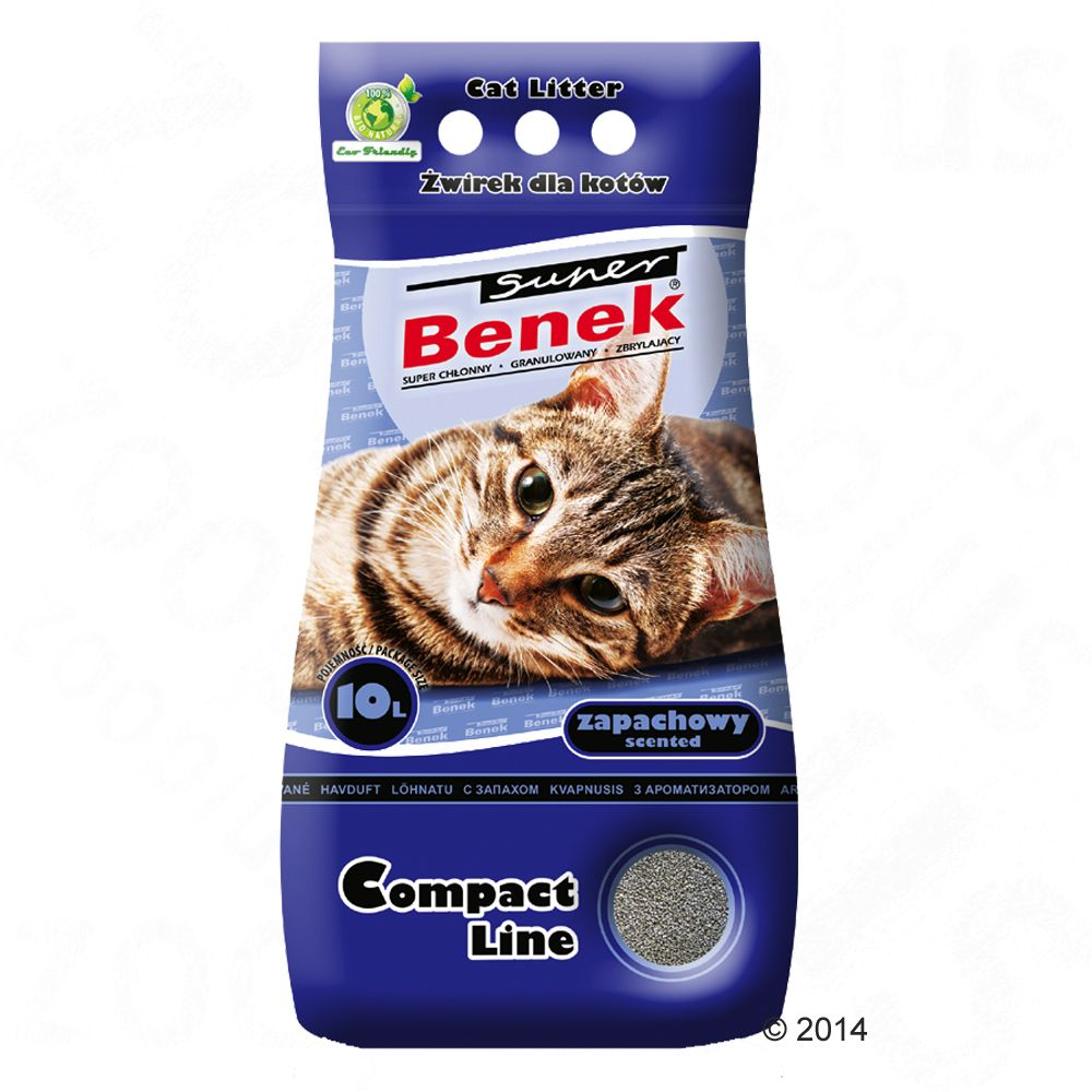 Super Benek Compact Scented Cat Litter - 25 litres (approx. 20kg)