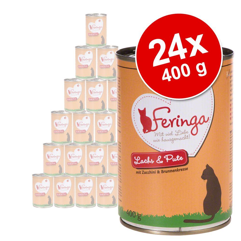 Foto Feringa Menù Duetto 24 x 400 g - Manzo & Pollame con Patate e Menta gatto