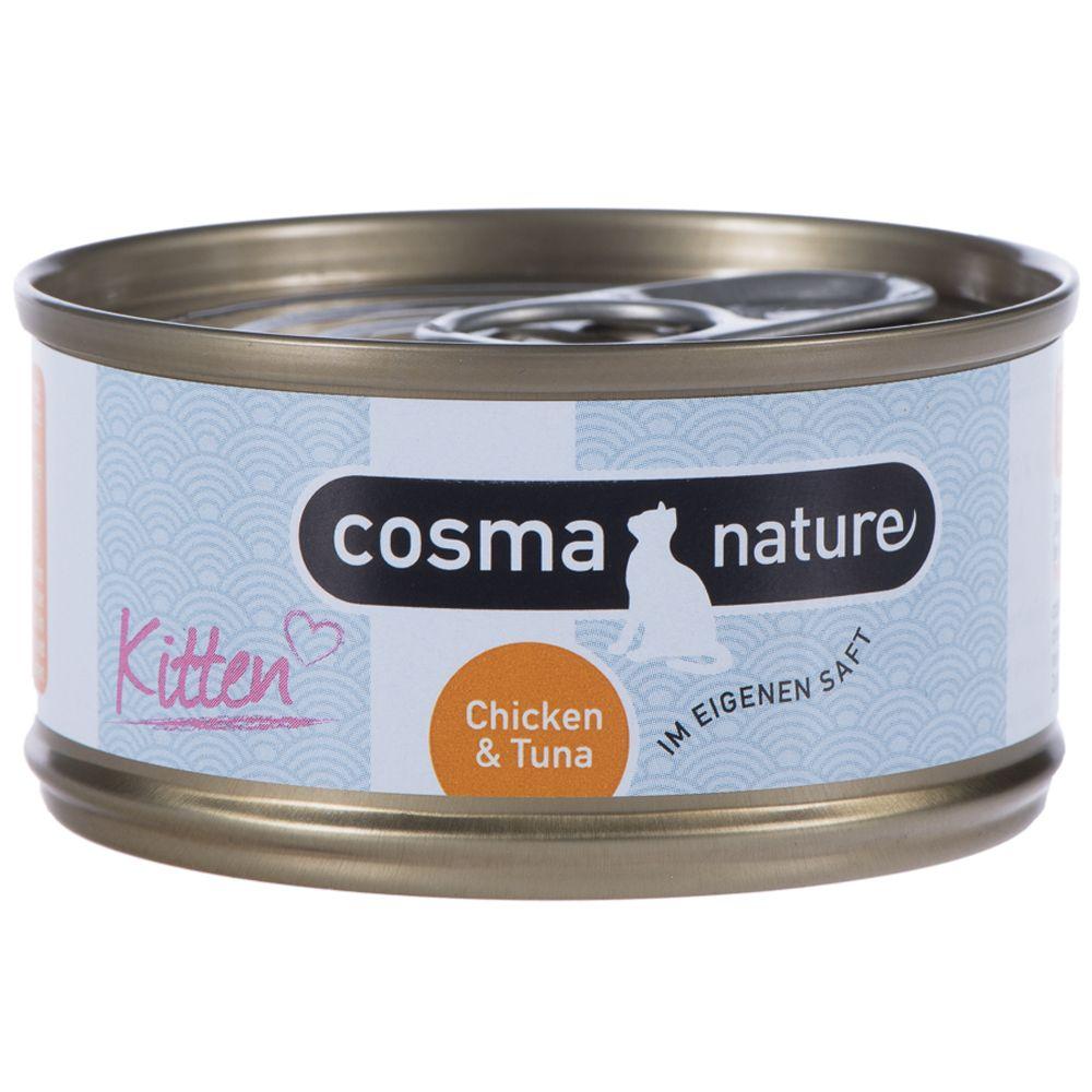 Cosma Nature Kitten 6 x 70 g Tonfisk & Aloe vera