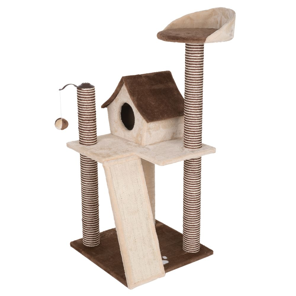 Cat's Home Cat Tree - Beige / Brown