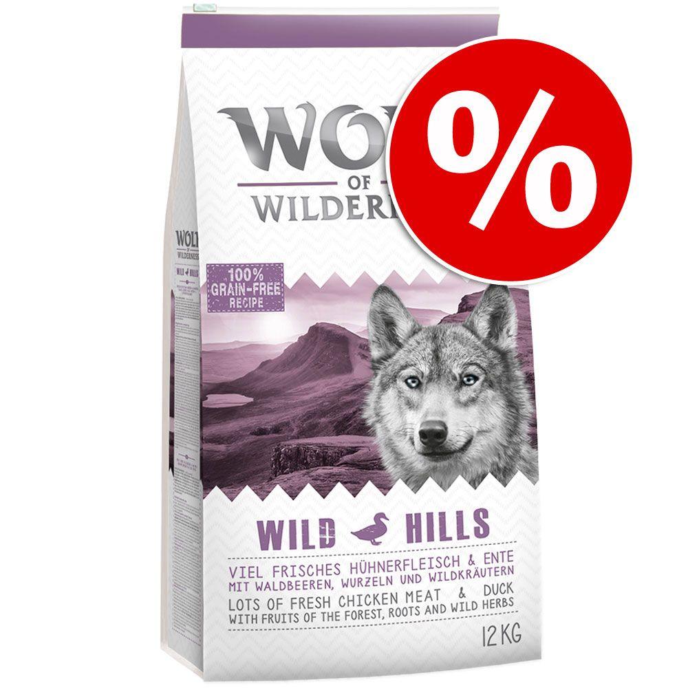 12 kg Wolf of Wilderness Trockenfutter zum Cyber-Sonderpreis! - Adult Oak Woods Wildsch.