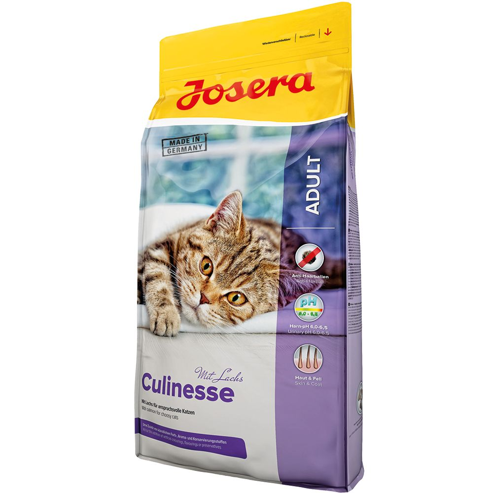 Is your adult cat a little connoisseur? Josera Emotion Culinesse Cat Food with delicate poultry and tender salmon is the best choice for sophisticated kitties. The...