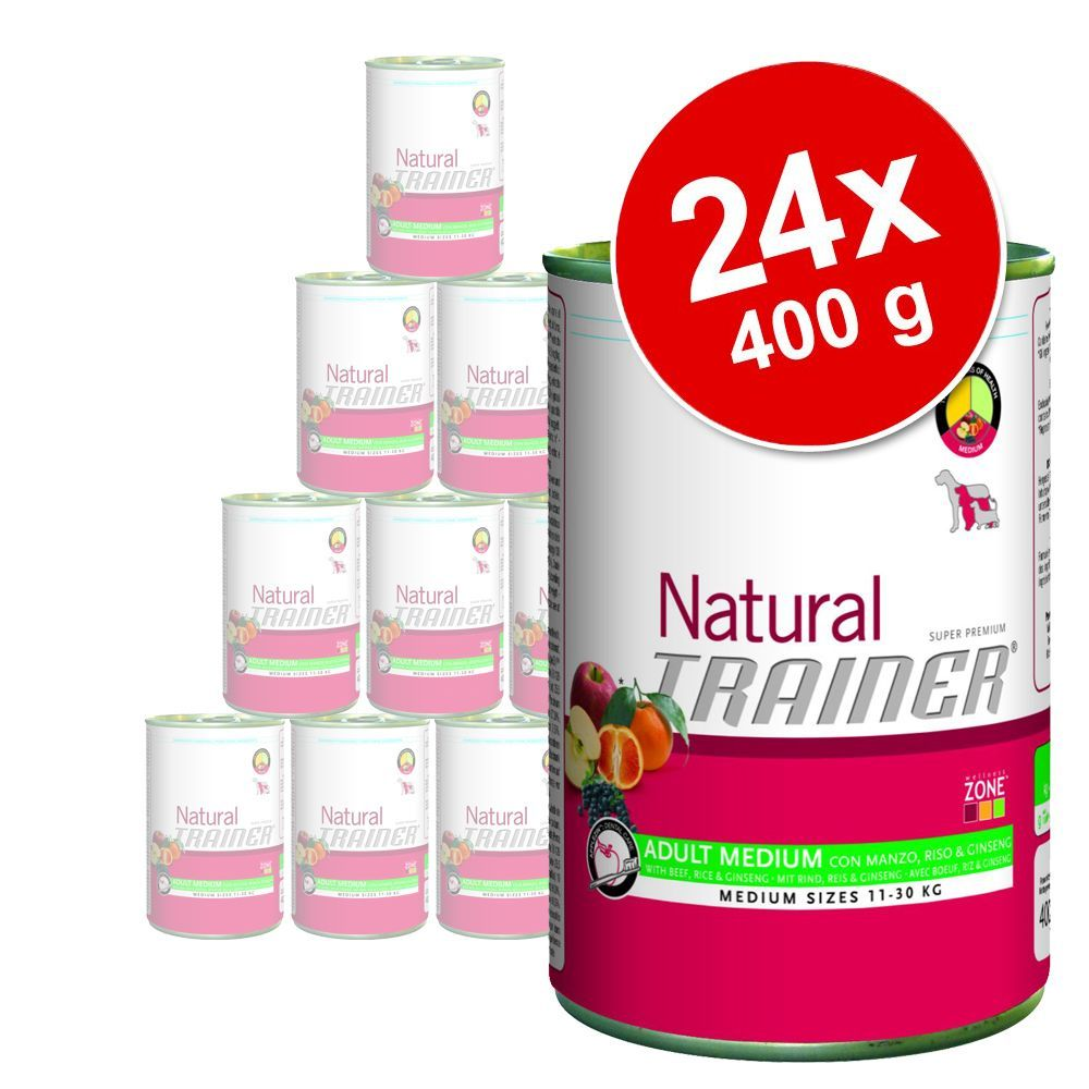 Foto Trainer Natural Medium - Maxi 24 x 400 g - Mix Adult Maxi – Pollo & Manzo Set risparmio