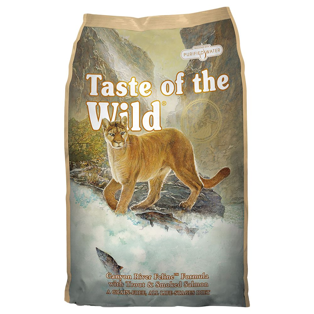 Taste of the Wild Dry Cat Food Economy Packs 2 x 7kg - Canyon River Feline