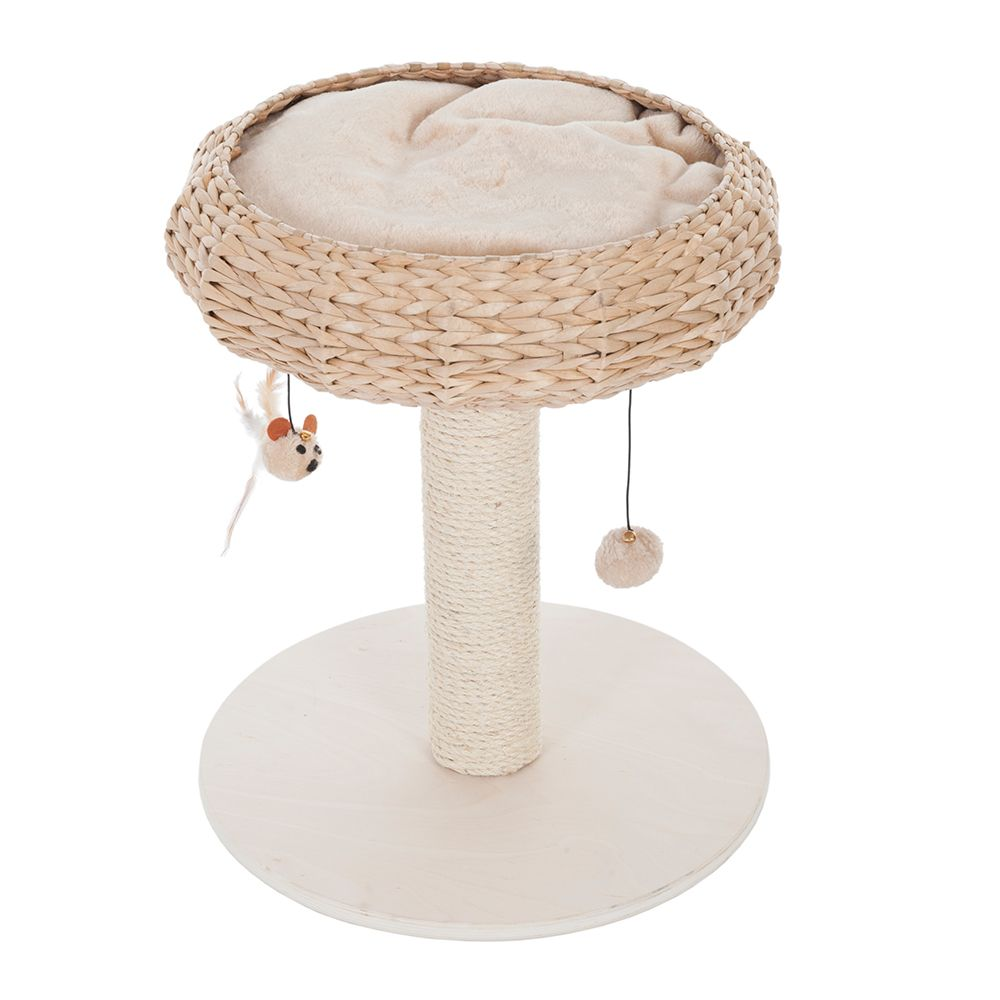 Beige Natural Home I Wooden Cat Tree