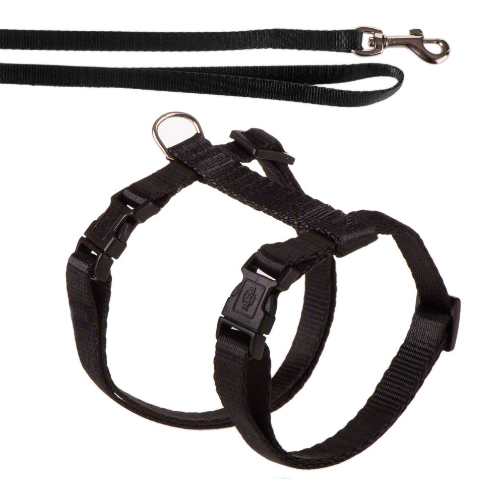 Trixie Cat Harness with Lead - Black