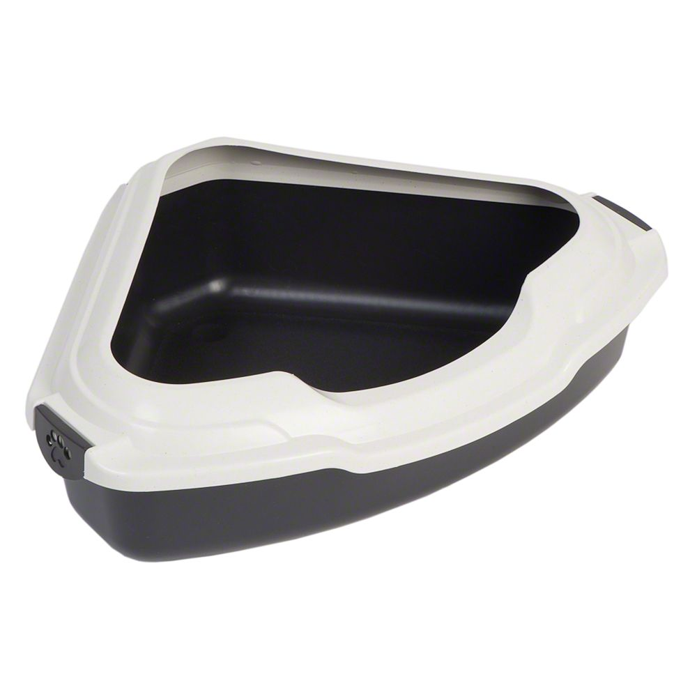 Corner Litter Tray with Removable Edge