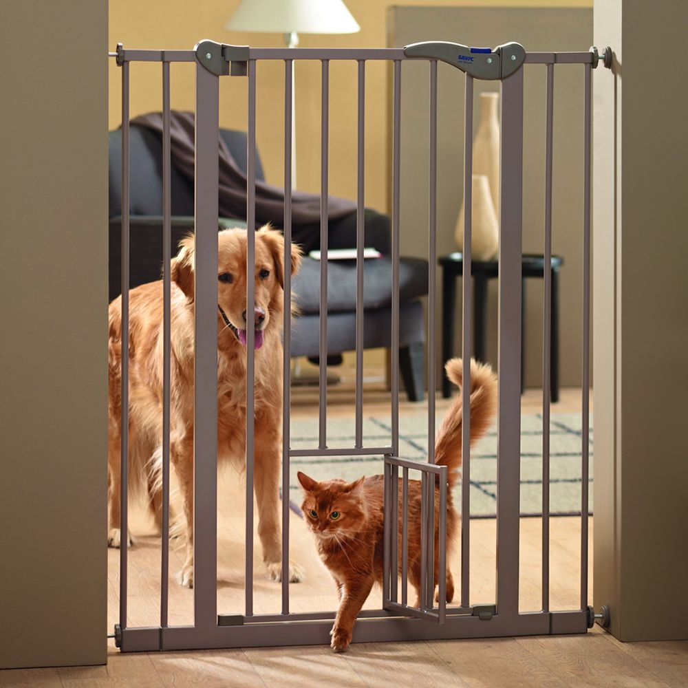 Savic Dog Barrier 2 with Cat Door Height 107cm Width 75-84cm